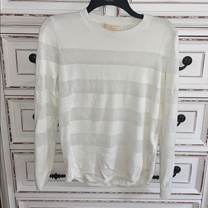 Michael Kors white stripe sweater